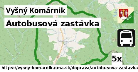 ilustračný obrázok k Autobusová zastávka, Vyšný Komárnik