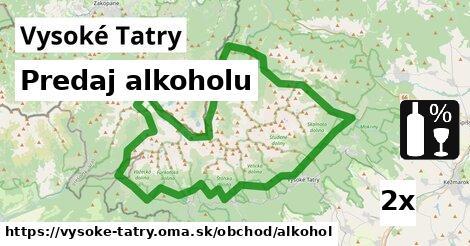 ilustračný obrázok k Predaj alkoholu, Vysoké Tatry