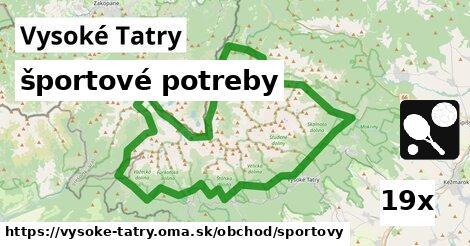 ilustračný obrázok k športové potreby, Vysoké Tatry