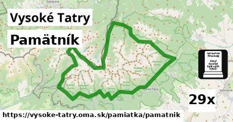 ilustračný obrázok k Pamätník, Vysoké Tatry
