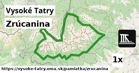 ilustračný obrázok k Zrúcanina, Vysoké Tatry