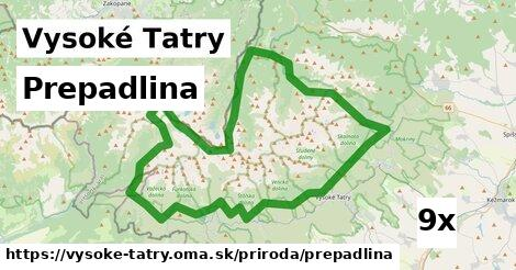 prepadlina v Vysoké Tatry
