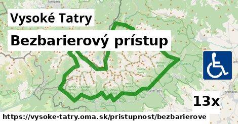 ilustračný obrázok k Bezbarierový prístup, Vysoké Tatry