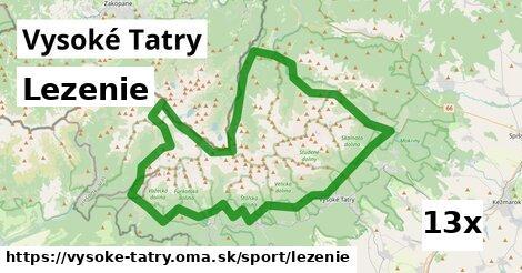 lezenie v Vysoké Tatry