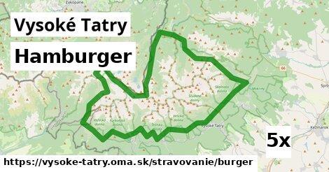 hamburger v Vysoké Tatry