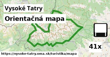 ilustračný obrázok k Orientačná mapa, Vysoké Tatry