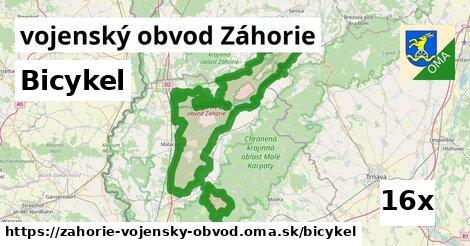 bicykel v vojenský obvod Záhorie