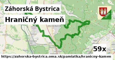 hraničný kameň v Záhorská Bystrica