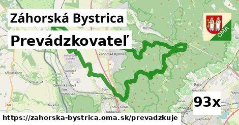 prevádzkovateľ v Záhorská Bystrica