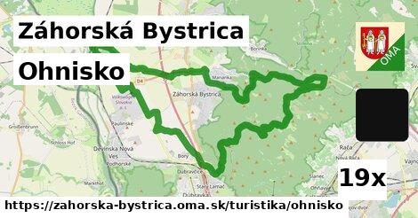 ohnisko v Záhorská Bystrica