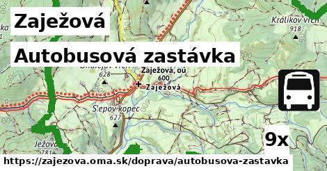 autobusová zastávka v Zaježová