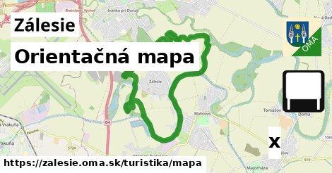 orientačná mapa v Zálesie