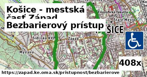 bezbarierový prístup v Košice - mestská časť Západ