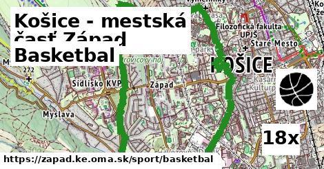 basketbal v Košice - mestská časť Západ