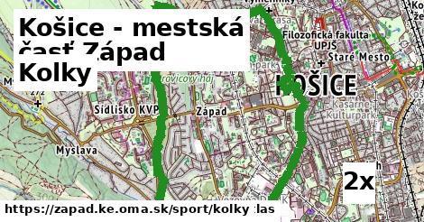 kolky v Košice - mestská časť Západ