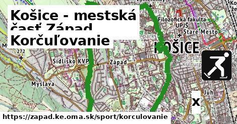 korčuľovanie v Košice - mestská časť Západ