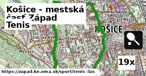 tenis v Košice - mestská časť Západ