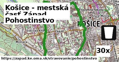 pohostinstvo v Košice - mestská časť Západ