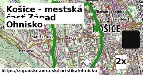 ohnisko v Košice - mestská časť Západ