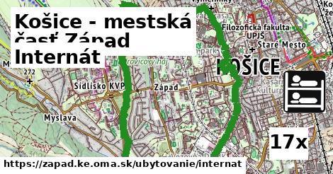 internát v Košice - mestská časť Západ