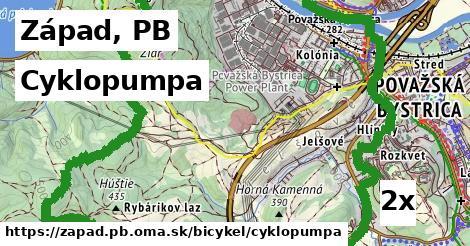 cyklopumpa v Západ, PB