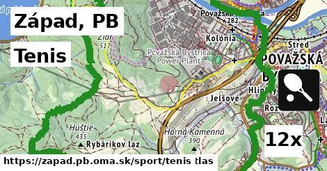 tenis v Západ, PB