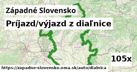 príjazd/výjazd z diaľnice v Západné Slovensko