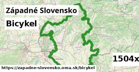 bicykel v Západné Slovensko