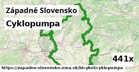 cyklopumpa v Západné Slovensko