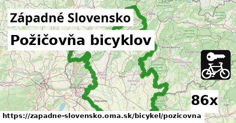 ilustračný obrázok k Požičovňa bicyklov, Západné Slovensko
