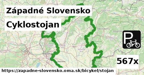 ilustračný obrázok k Cyklostojan, Západné Slovensko