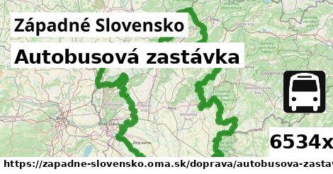 autobusová zastávka v Západné Slovensko