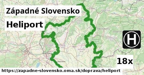 heliport v Západné Slovensko