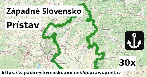prístav v Západné Slovensko