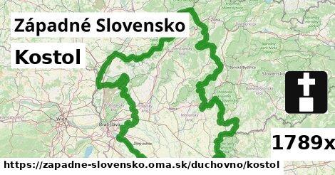 ilustračný obrázok k Kostol, Západné Slovensko