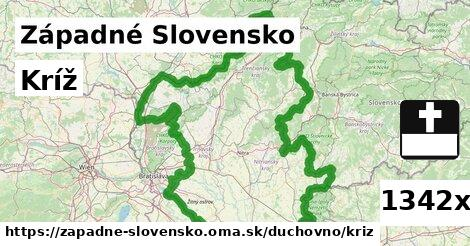 kríž v Západné Slovensko