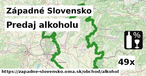 predaj alkoholu v Západné Slovensko