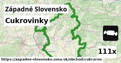 cukrovinky v Západné Slovensko