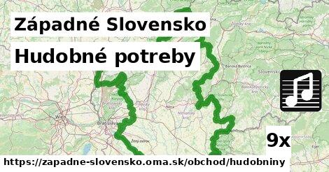 hudobné potreby v Západné Slovensko