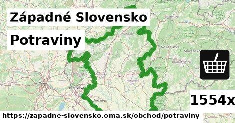 potraviny v Západné Slovensko