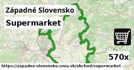 supermarket v Západné Slovensko