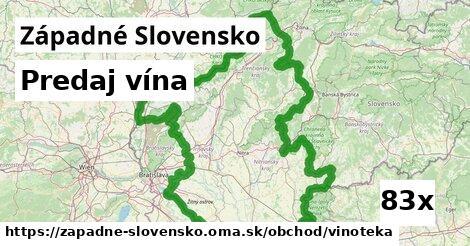 ilustračný obrázok k Predaj vína, Západné Slovensko