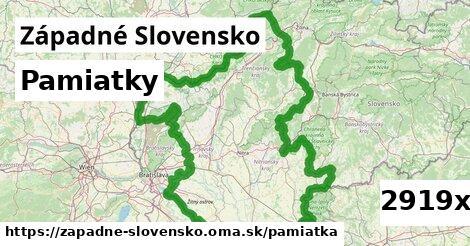 pamiatky v Západné Slovensko