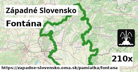 fontána v Západné Slovensko