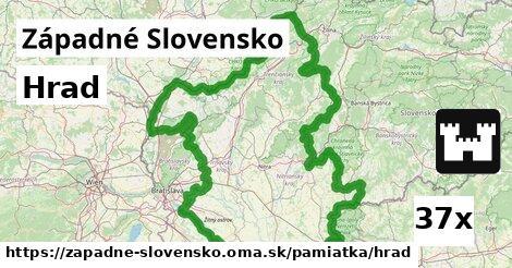ilustračný obrázok k Hrad, Západné Slovensko