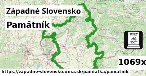 pamätník v Západné Slovensko