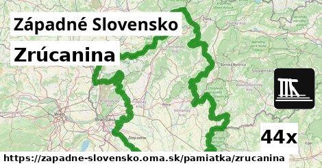 ilustračný obrázok k Zrúcanina, Západné Slovensko
