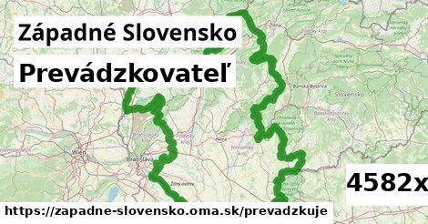 prevádzkovateľ v Západné Slovensko