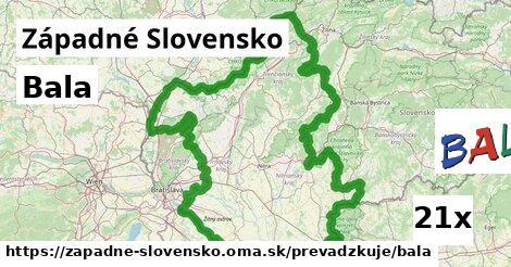Bala v Západné Slovensko