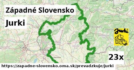 Jurki v Západné Slovensko